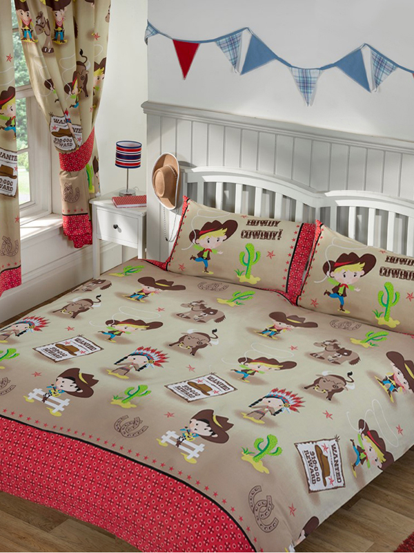 Howdy Cowboy Double Duvet Cover and Pillowcase Set