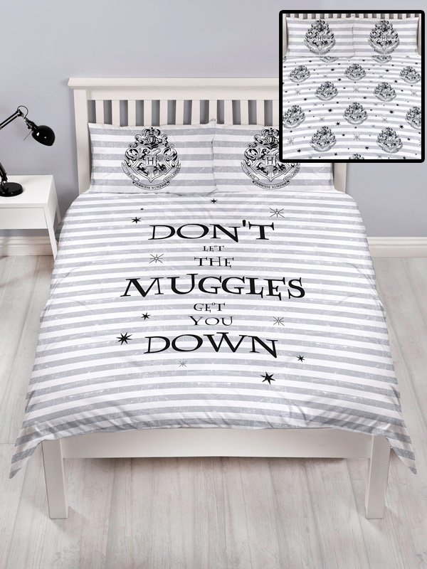 Harry Potter Spell Double Duvet Cover and Pillowcase Set