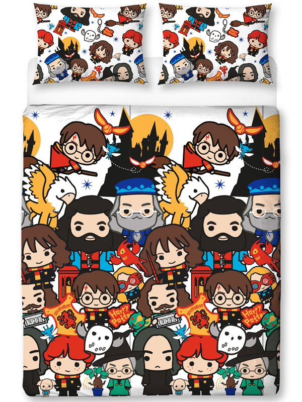 Harry Potter Charm Double Duvet Cover and Pillowcase Set