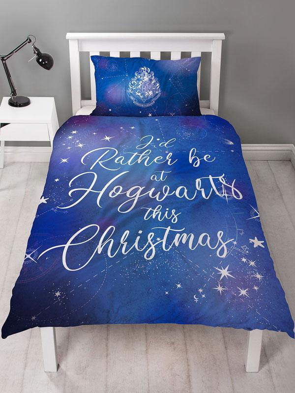 Harry Potter Celestial Single Christmas Duvet Cover Set
