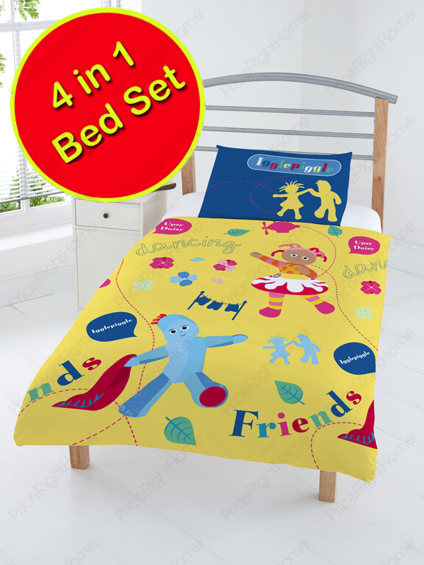 In The Night Garden 4 in 1 Junior Bedding Bundle Duvet Pillow and