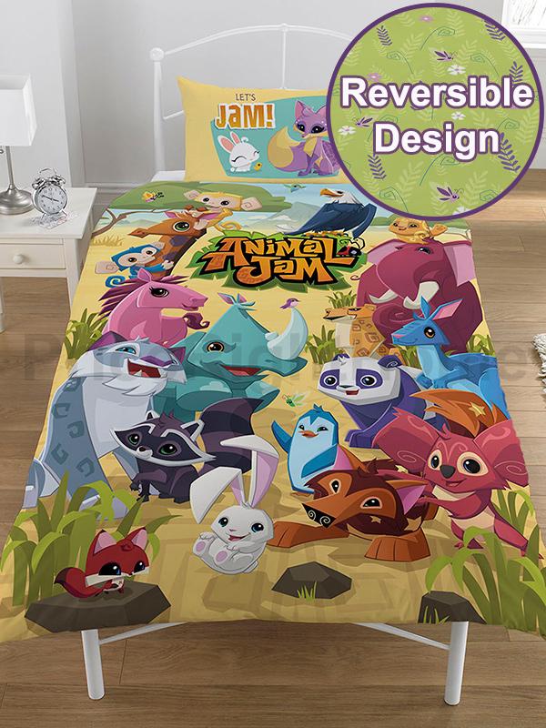 animal jam single duvet cover and pillowcase set