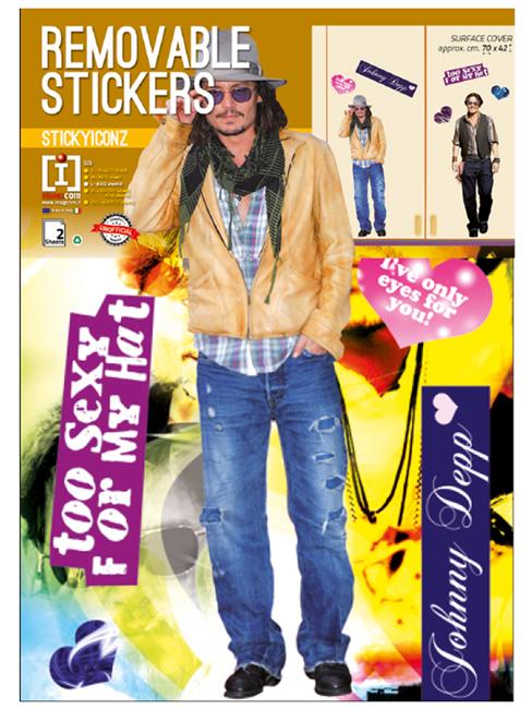 Johnny Depp Wall Stickers