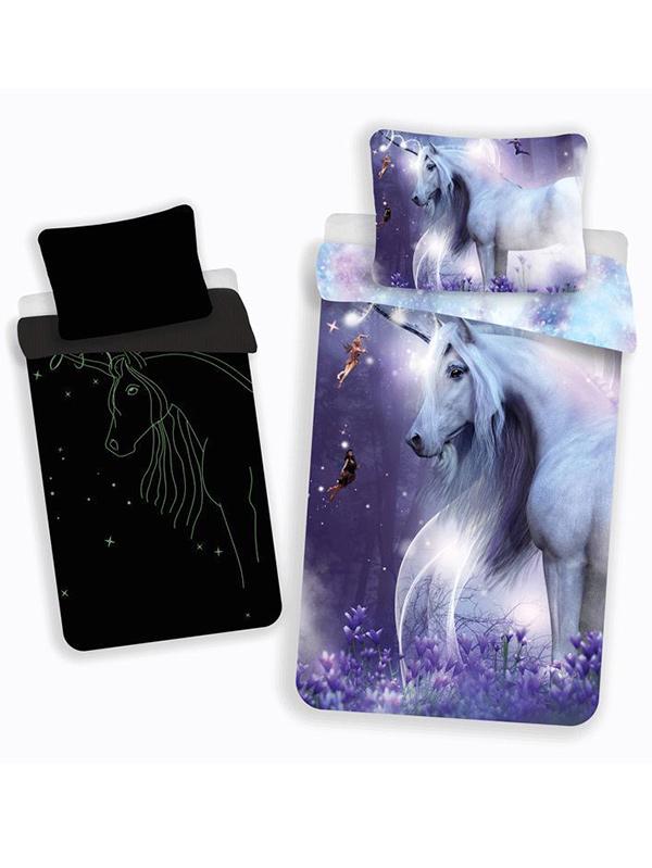 Mystical Unicorn Single Cotton Duvet Cover Set