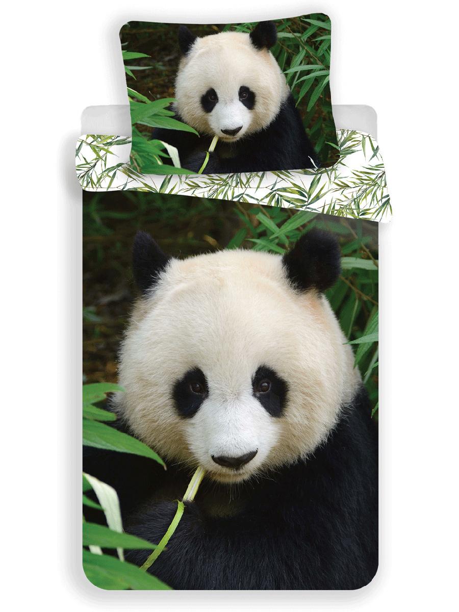 Panda Single Cotton Duvet Cover and Pillowcase Set - European Size