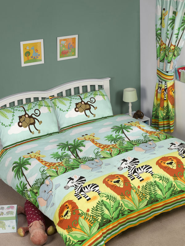 jungletastic double duvet cover and pillowcase set