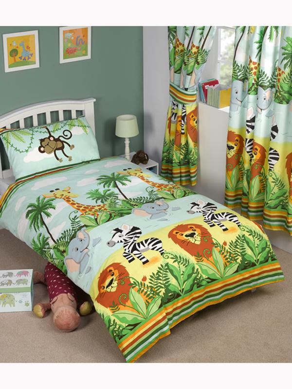 jungletastic junior toddler duvet cover and pillowcase set