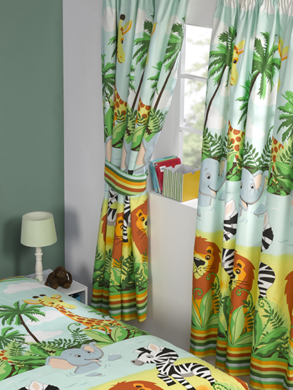 jungletastic lined curtains