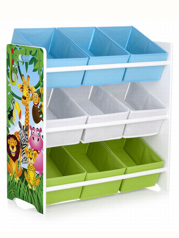 Jungle Animals 9 Bin Storage Unit