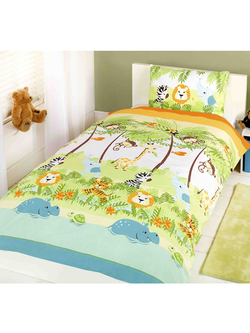 jungle boogie junior toddler duvet cover and pillowcase set