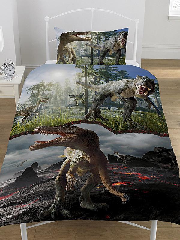 Jurassic Predators Dinosaurs Single Duvet Cover Set
