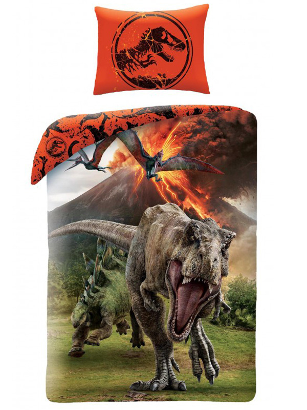 Jurassic World Volcano Single Duvet Cover Set - European Size