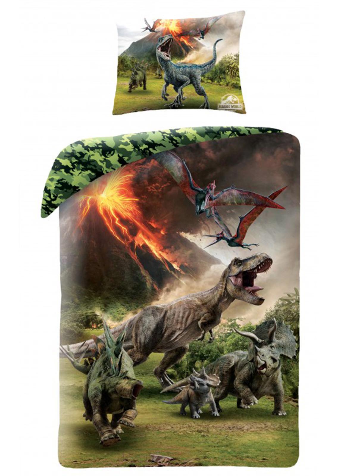 Jurassic World Volcano Single Cotton Duvet Cover Set - European Size