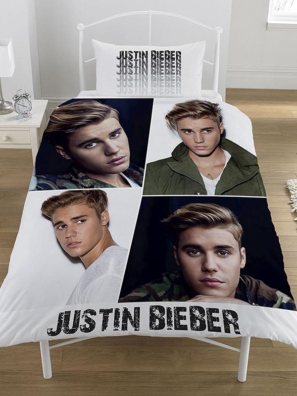 justin bieber montage single duvet cover and pillowcase set