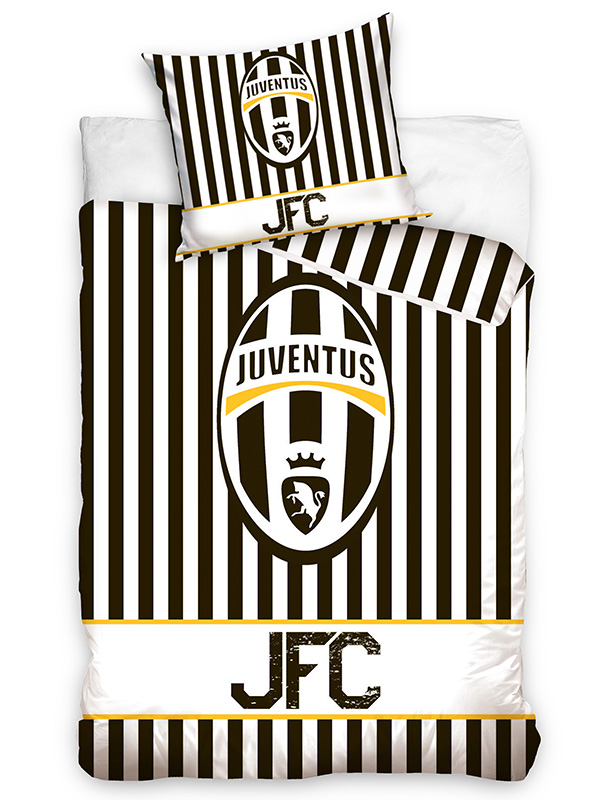 Home & Garden|Bedding|Children's Bedding|Duvet Covers Juventus FC Stripe Single Cotton Duvet Cover Set