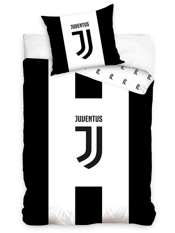 Juventus FC Black and White Single Cotton Duvet Cover Set