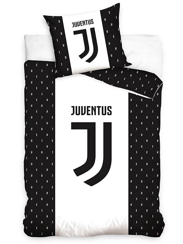 Juventus FC Letters Single Cotton Duvet Cover Set