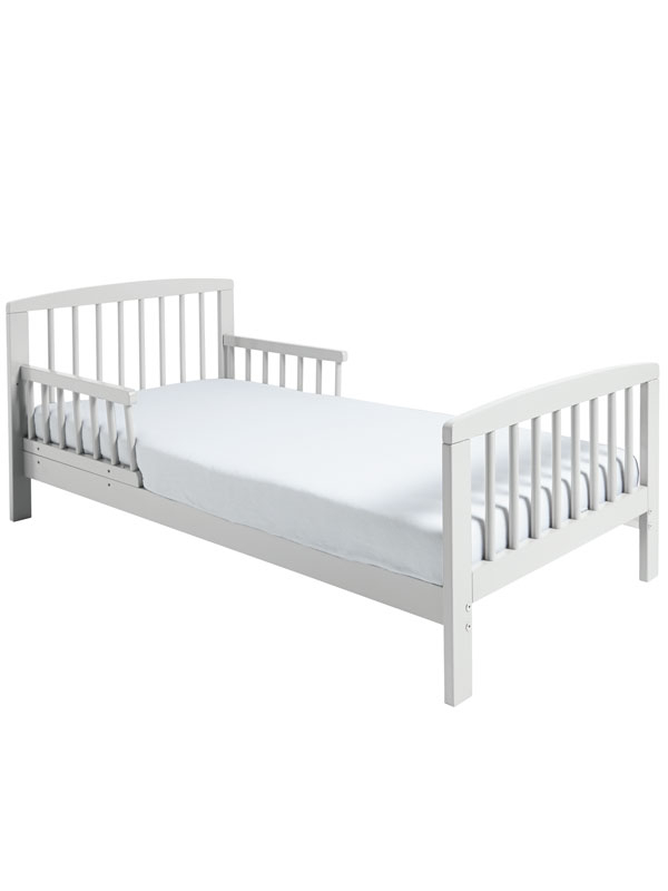 Classic Wooden Toddler Bed White Plus Fully Sprung Mattress