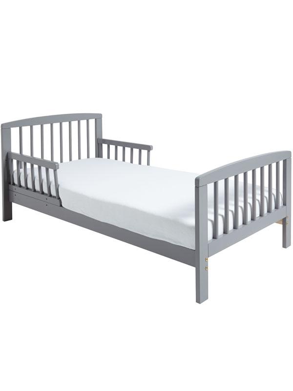 Classic Wooden Toddler Bed Grey Plus Foam Mattress