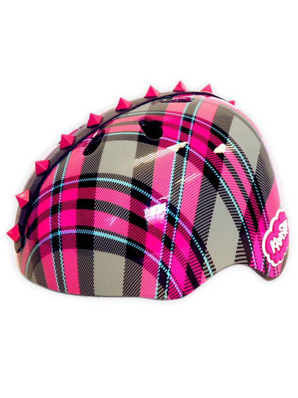 Krash Plaid Pyramid Studs Safety Helmet