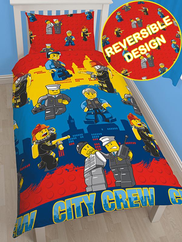Lego City Heroes Single Rotary Duvet Cover Set