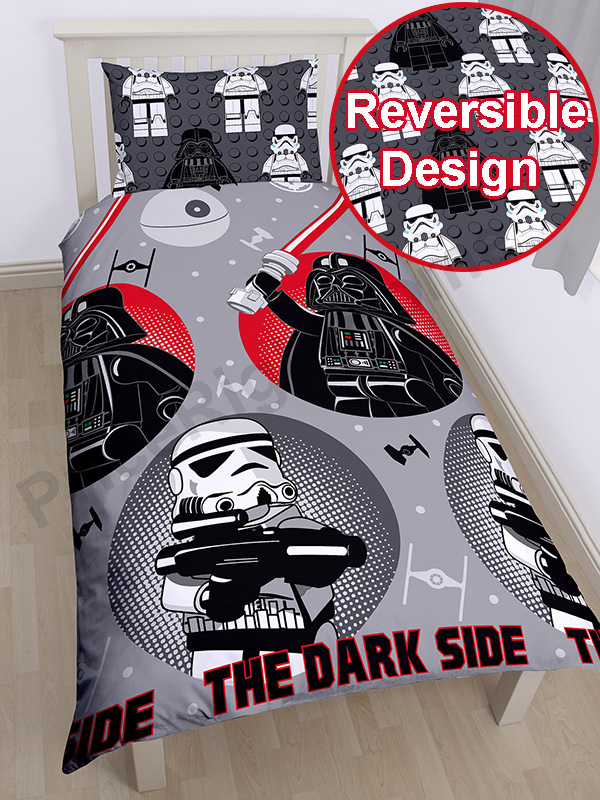 lego star wars villains single duvet cover and pillowcase set  rotary