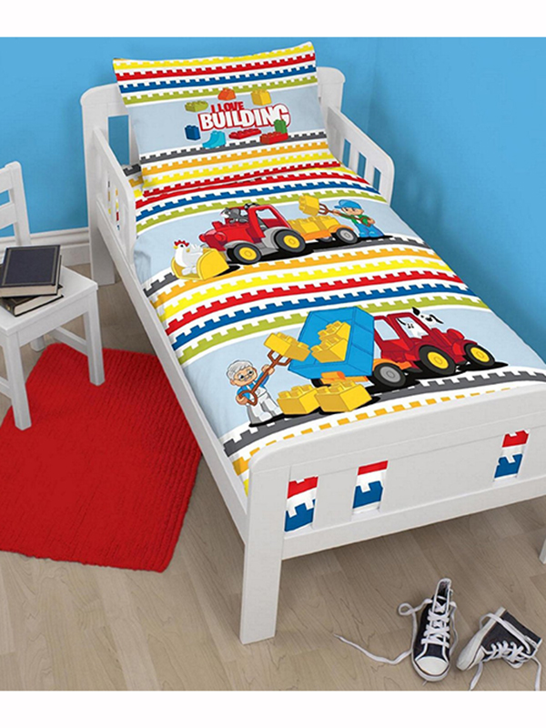 Lego Duplo Blocks Junior Duvet Cover and Pillowcase Set