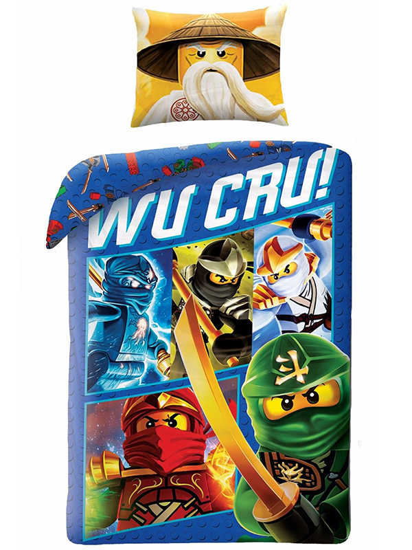 Lego Ninjago Wu Cru Single Duvet Cover and Pillowcase Set