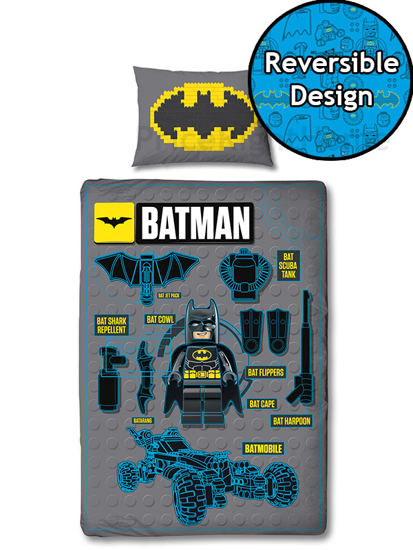 lego batman movie engineering single duvet cover set
