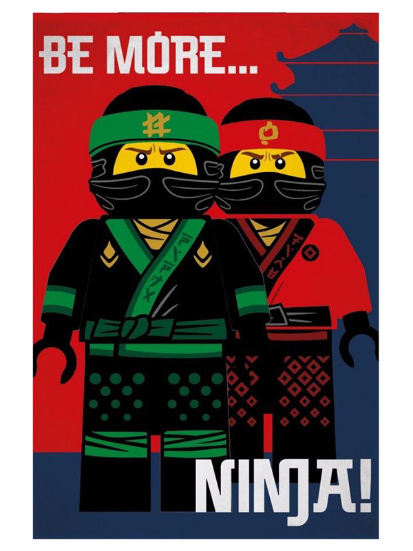 Lego Ninjago Movie Ninja Fleece Blanket