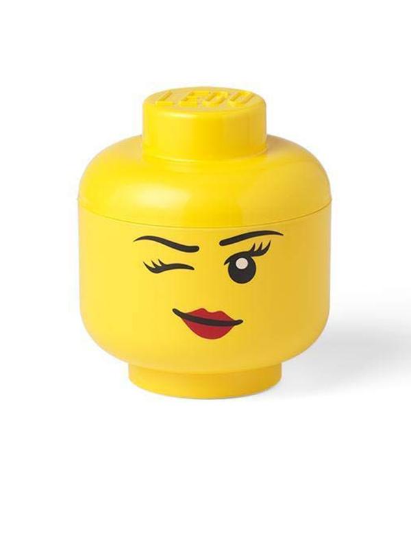 Lego Small Storage Head Girl - Winking Face