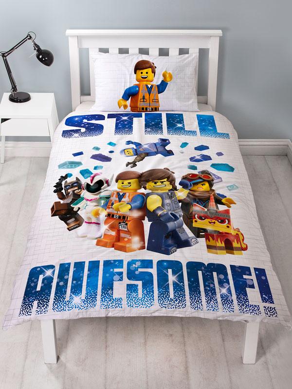 Lego Movie 2 Action Single Duvet Cover and Pillowcase Set