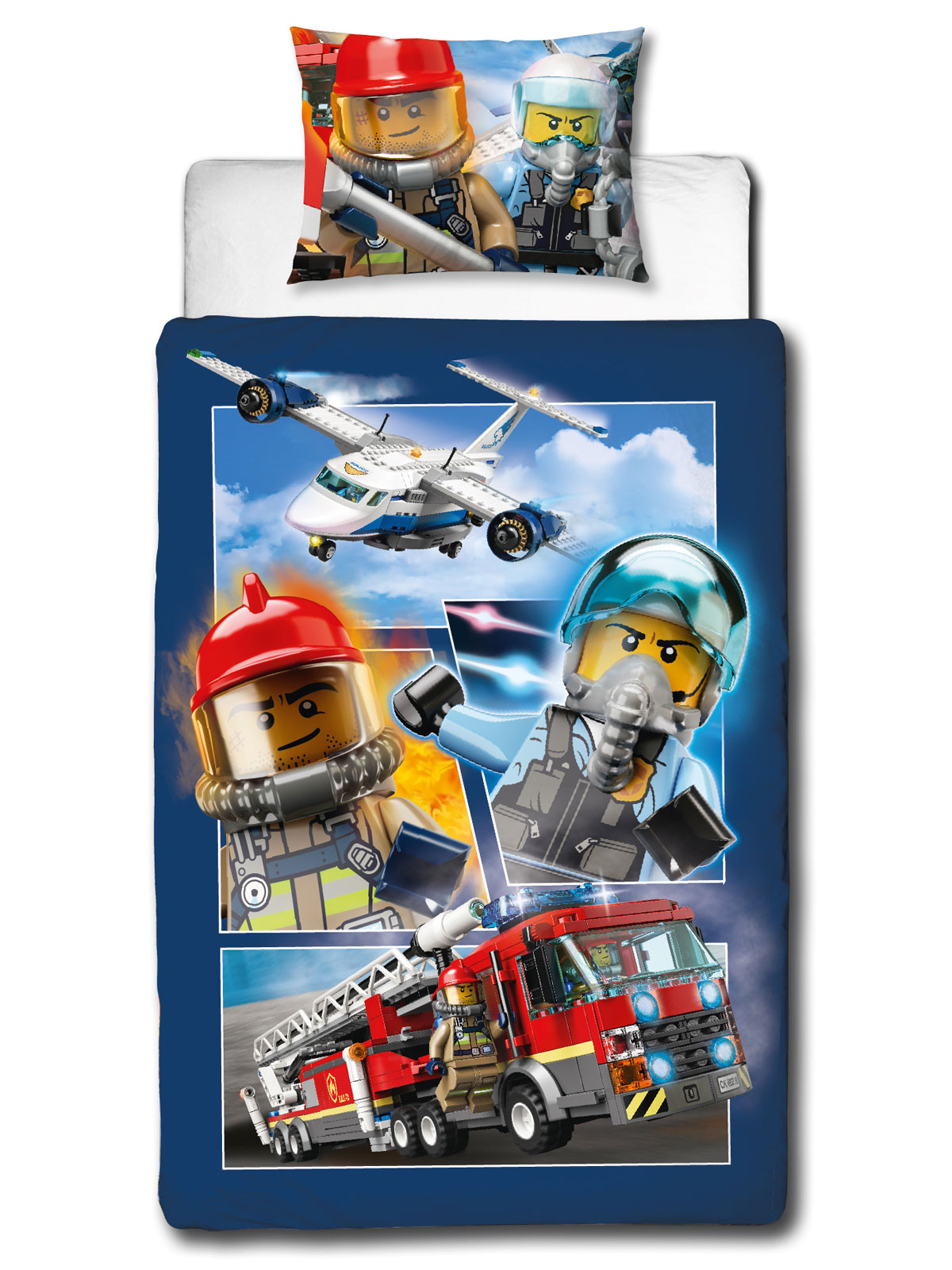 Lego City On The Run Single Duvet Cover and Pillowcase Set