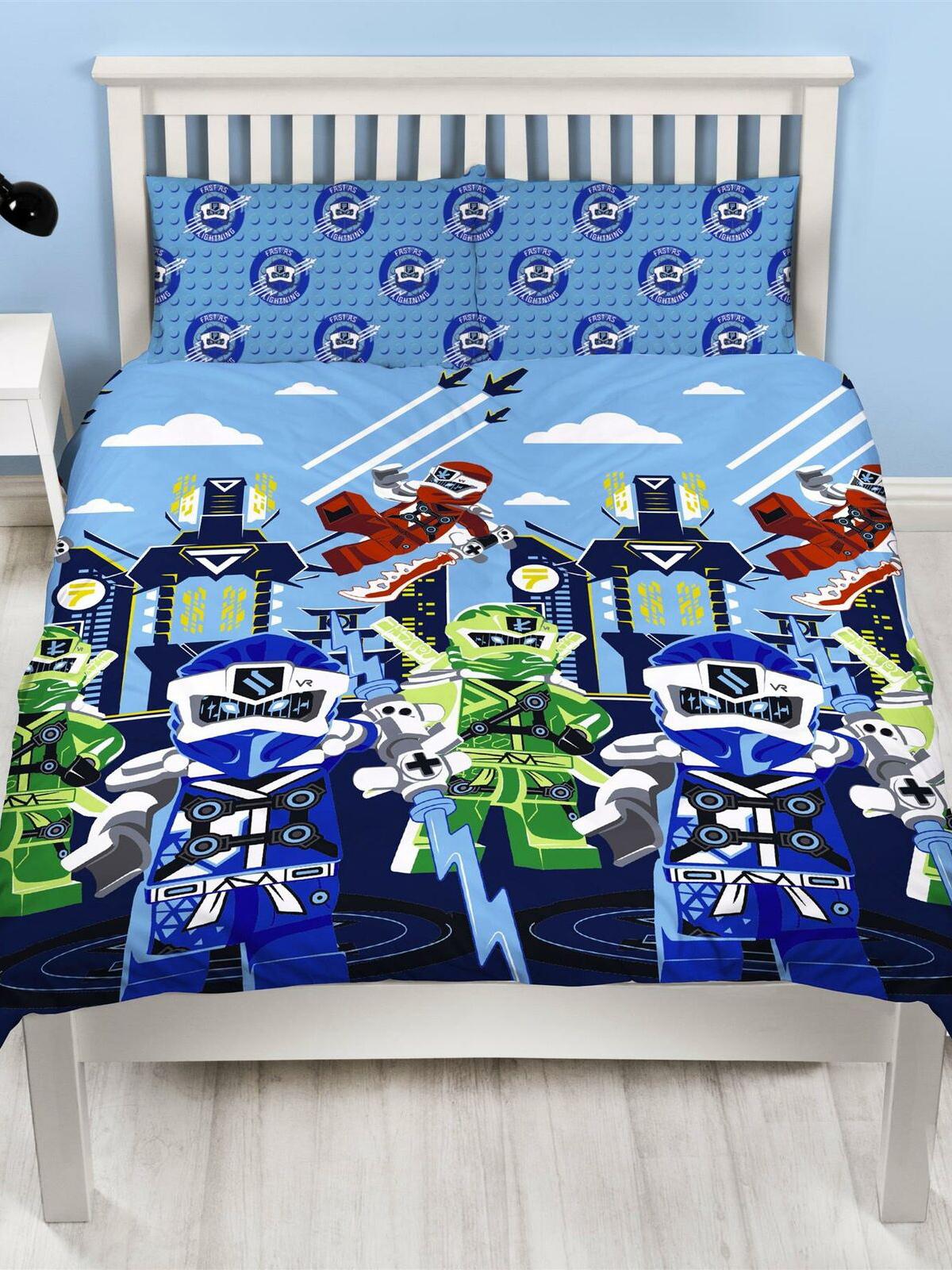 Lego Ninjago Lightning Double Duvet Cover Set