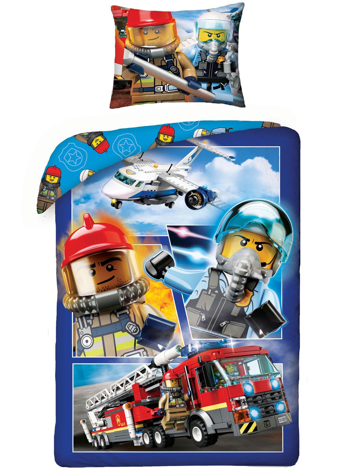 Lego City Single Cotton Duvet Cover Set - European Size