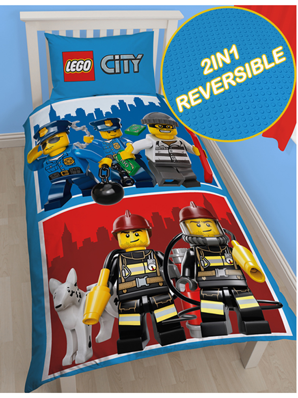 Lego City Heroes Single Duvet Cover Set