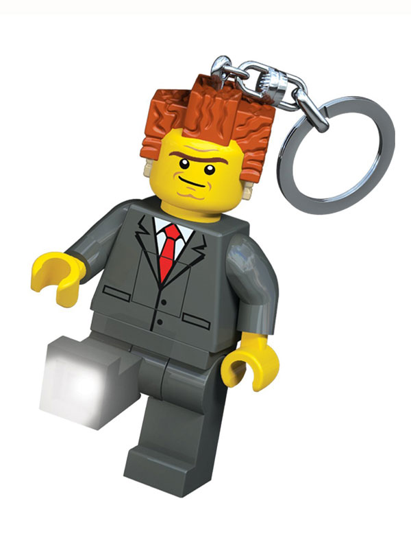 Lego Movie President Business Keylight Keyring