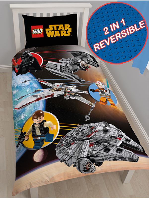 Lego Star Wars Space Single Duvet Cover and Pillowcase Set