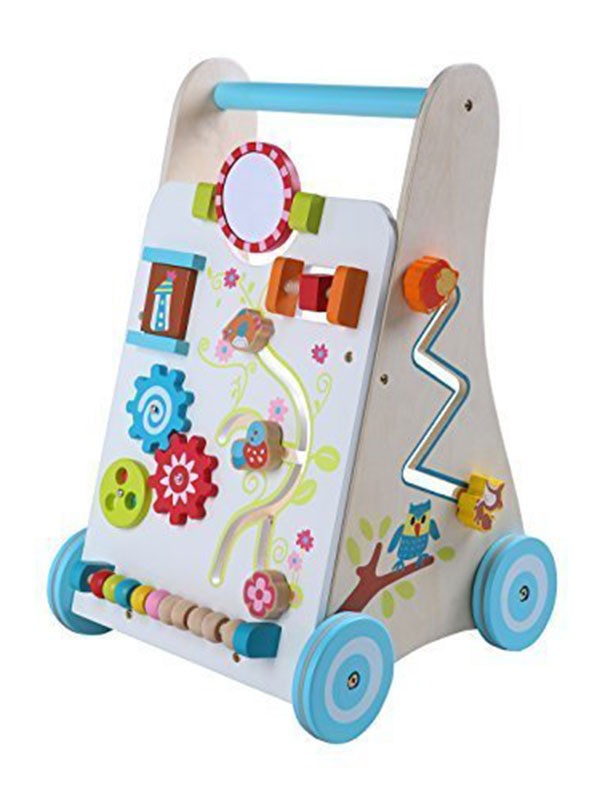 Leomark Baby First Steps Wooden Activity Walker