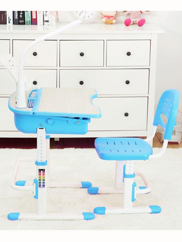 Leomark Ergonomic Desk and Chair Blue