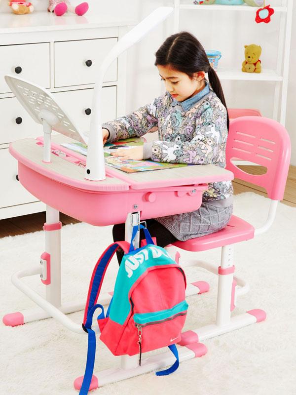 Leomark Ergonomic Desk and Chair Pink