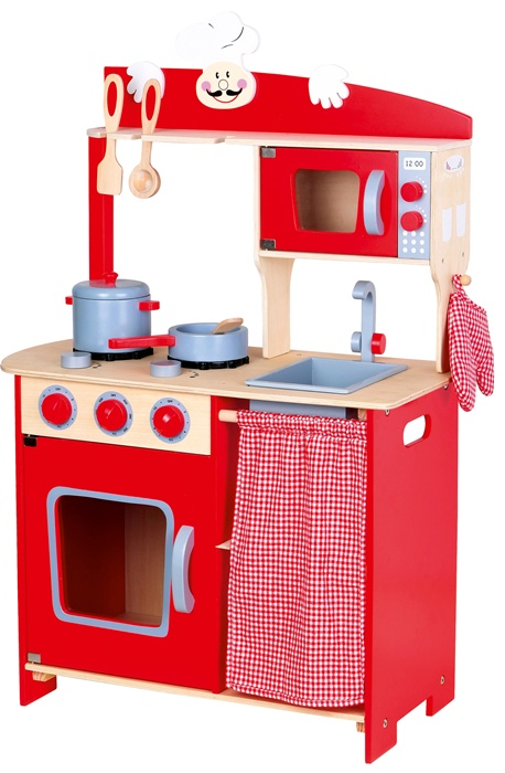 Kitchen Chef Kids Wooden Role Play Toy with Accessories