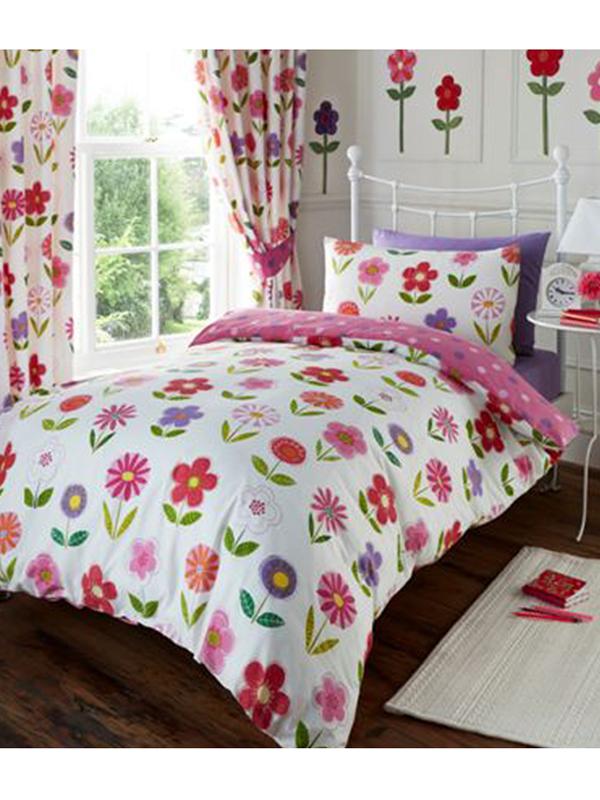 little flowers junior toddler duvet cover and pillowcase set