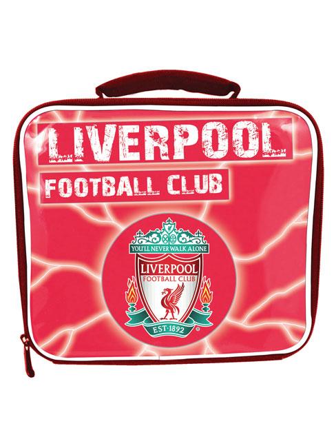 liverpool fc lightning design lunch bag