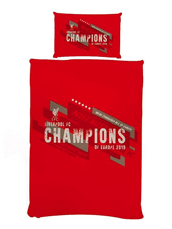 Liverpool FC Champions of Europe Single Duvet Cover Set