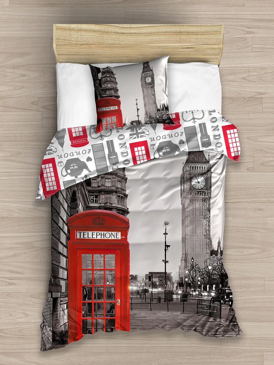 London Single Cotton Duvet Cover Set - European Size