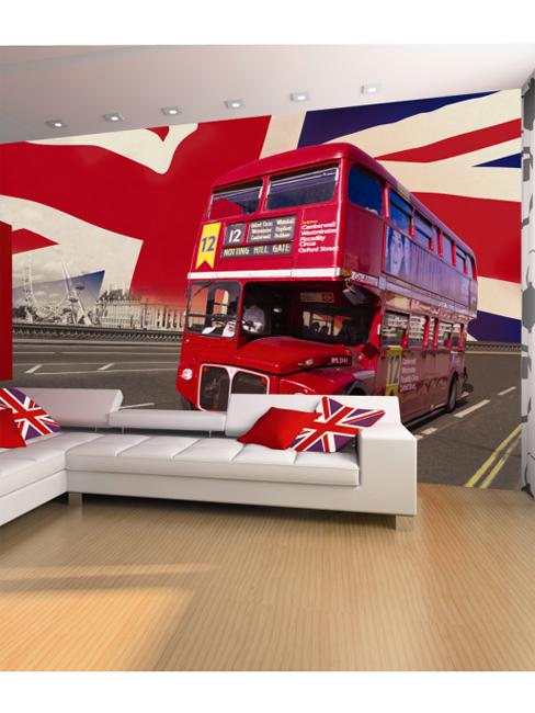 London Bus Wall Mural 232 x 315 cm