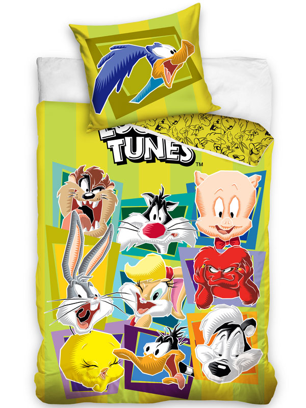 Loony Tunes Single Cotton Duvet Cover and Pillowcase Set