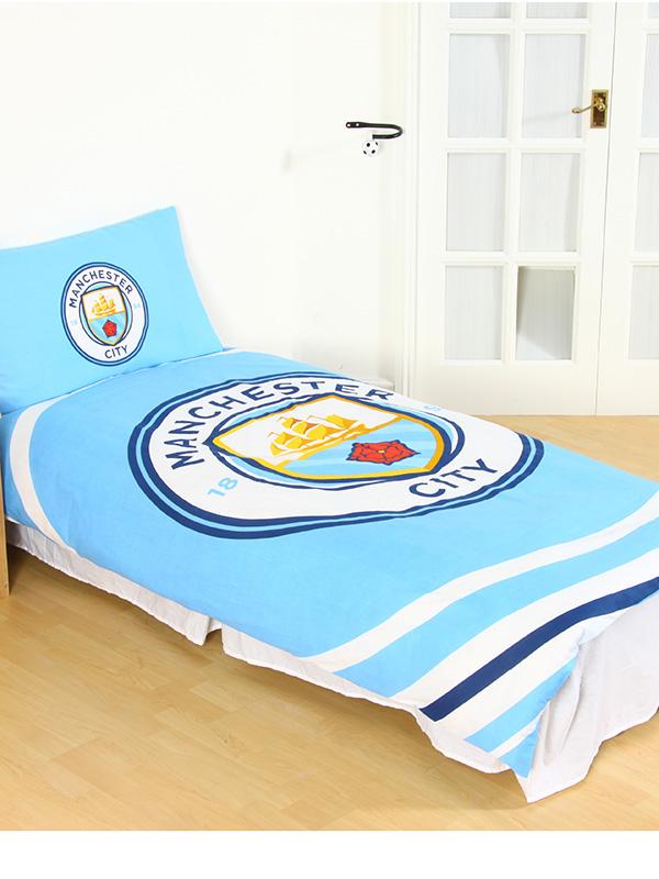 Manchester City FC Pulse Single Duvet Cover Set