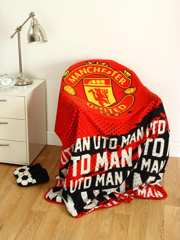 Manchester United FC Impact Fleece Blanket
